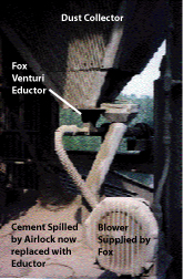 Conveying Cement Dust with Fox Venturi Eductors