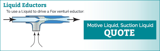Liquid Eductor Data Sheet