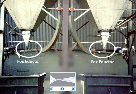Fox Eductors Under Dual Dust Collectors