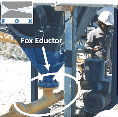 Fox Eductor under Dust Collector