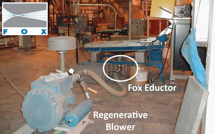 Fox Eductor under Plastics Screener