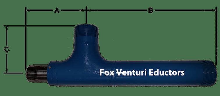Fox Air Jet Ejector Dimensions